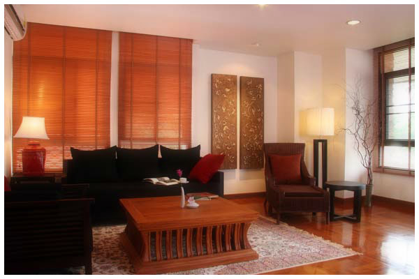 The living rooms of large apartments are spacious, elegant and washed in natural light